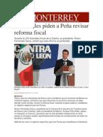 09-04-2014 Milenio.com - Industriales piden a Peña revisar reforma fiscal.