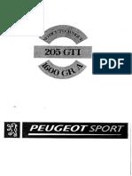 Peugeot Sport 205 RacingManual