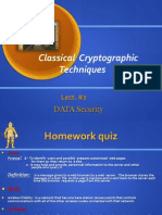 Lect2 Classical Encryption Technique(Cs 634)