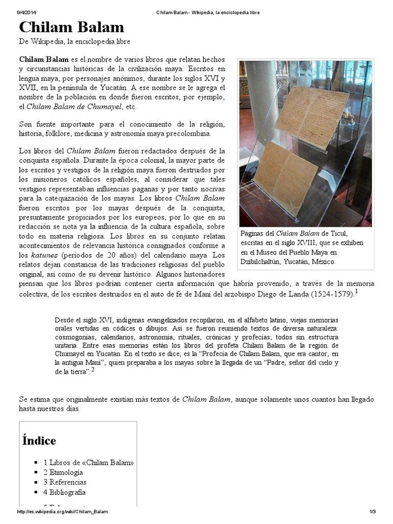 Chilam Balam - Wikipedia d84a0ce7f5c