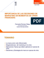Importancia de Las Decisiones de Marketing en Momentos de Crisis Financiera
