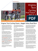VT Cycling Newsletter Home Race