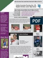 Early Detection Saves Lives!  Cardiac Screening - Thurs. Nov. 12th - La Mirada