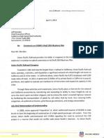 Union Pacific Comments 2014 Business Plan