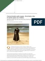 Canonizado pelo papa, Anchieta não é santo para os índios _ Blog da Amazônia
