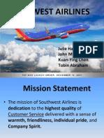 strategic management- southwest airlines