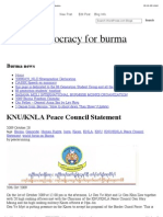 KNU-KNLA Peace Council Statement