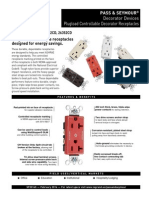 Plugload Controllable Decorator Receptacles Spec Sheet SF20145
