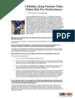 Multi Sport Athlete Greg Parham Talks About the Paleo Diet for Performance