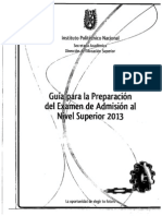 Guia Preparacion Del Examen de Admision Nivel Superior 2013