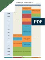 DFA Creator's Exchange Schedule