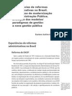 02 - EXPERIÊNCIAS DE REFORMAS ADMINISTRATIVAS NO BRASIL