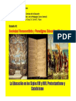 21. La Educaci n en Siglos XVI y XVII. Protestantismo y Catolicismo.2011