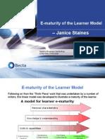 E-Maturity of the Learner Model