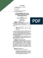 Ley No. 29415 - Texto de la Ley No. 29415 Ley de Saneamiento Fisico Legal de Predios Tugurizados con fines de Renovación Urbana, publicada en el Diario Oficial el Peruano (02.10.09)