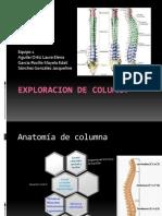 Exploracion de Columna