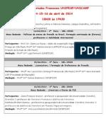 Semana de Estudos Franceses - Cartazete