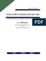 Guia para utilização da CDU_LIVRO