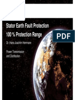 100 Percent Stator Earth Fault Protection Siemens
