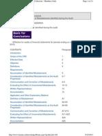 CAS 450 Evaluation of Misstatements