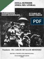 Elementos Comunes en Mesoamerica y en el Area Andina, Irma Jarrín 1982.
