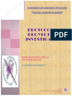 Protocolo y Proyecto de Investigación