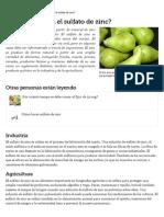 ¿Para qué se usa el sulfato de zinc_ _ eHow en Español