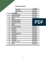 Framework for Activities