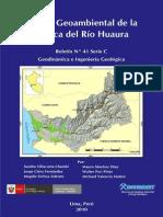 ESTUDIO GEOAMBIENTAL DE LA CUENCA DEL RÍO HUAURA; 2010