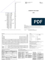 Chemistry Data Sheet Stage 2 and Stage 3 2012