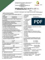 Examen Recuperacion FCyE II 4to B.