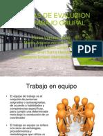 Tecnicas de Evalucion Del Trabajo Grupal