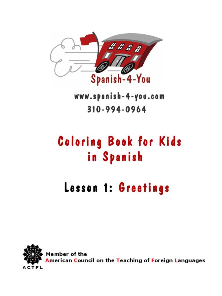Lesson One Coloring Book Symbols Languages