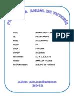 PROGRAMACIÓN DE TUTORÍA