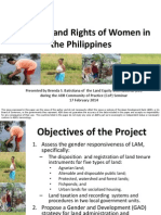 Securing Land Rights of Women in the Philippines