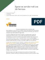 Cómo configurar un servidor web con Amazon Web Services