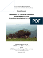 Simien mountains national park  Alternative Livelihoods Project Document[1]