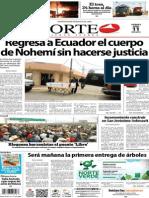 Periódico Norte de Ciudad Juárez edición impresa del 11 abril del 2014