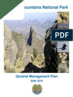 Simien Mountains National Park Management Plan