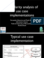 Modularity Analysis of Use Case Implementations