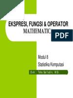 Ekspresi, Fungsi & Operator Mathematica