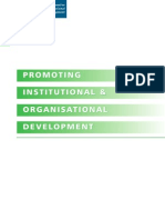 Promoting Institutional and Organisational Development, DFID