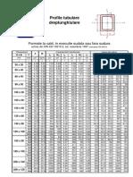 Catalog Tubulare Dreptunghi