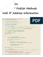 Web Service Retrieve and Publish Web IP Address