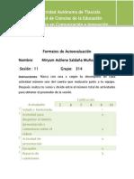 Formatos de Autoevaluaciòn segundo parcial