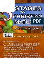 5 Stages to Christian Maturity