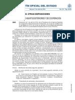 Modificación convocatoria de becas MAEC-AECID de cooperación al desarrollo