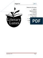 Literary Lunes Magazine, September Issue