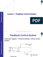 Lecture 1 Feedback Control System Sept 2012