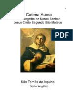 Catena Aurea de S Tomas de Aquino Evangelho S Mateus Prologo